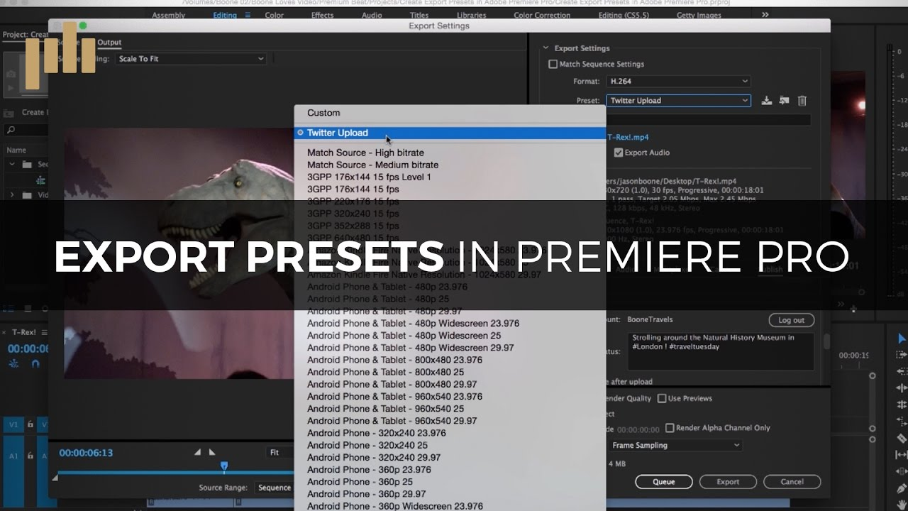 create export presets in premiere pro youtube. Black Bedroom Furniture Sets. Home Design Ideas