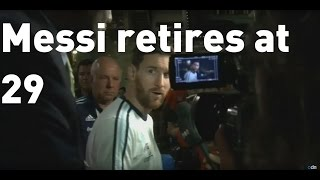 Footballer Lionel Messi announces international retirement aged 29-years old