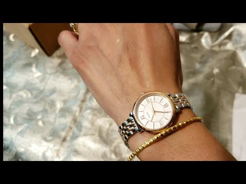 #fossilwatch #fossil #unboxing   FOSSIL JACQUELINE MINI THREE-HAND TWO-TONE STAINLESS STEEL WATCH