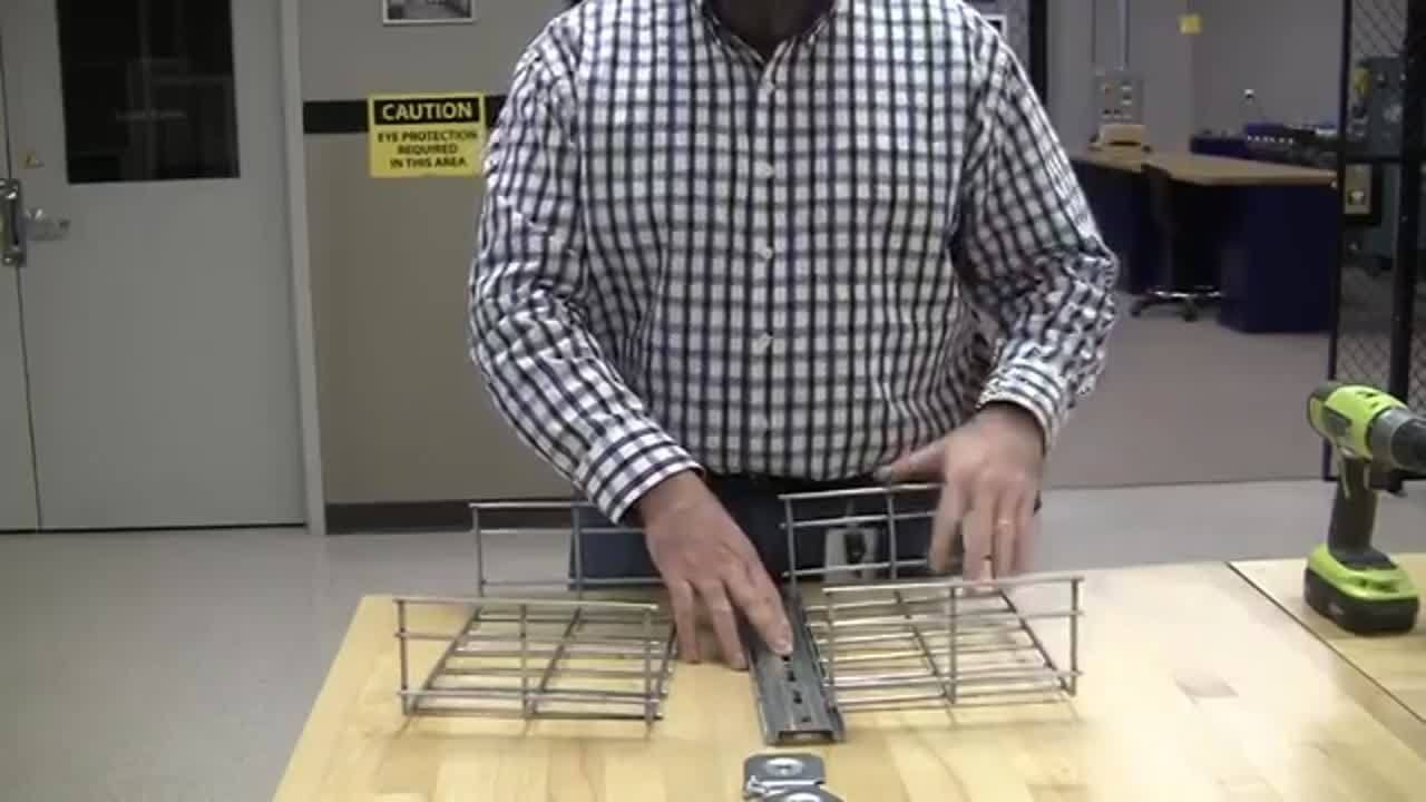 Hubbell Basket Tray: No-Splice Supports - YouTube