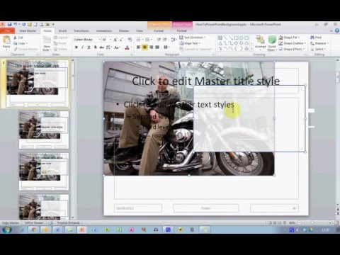 How to set background image in ms powerpoint