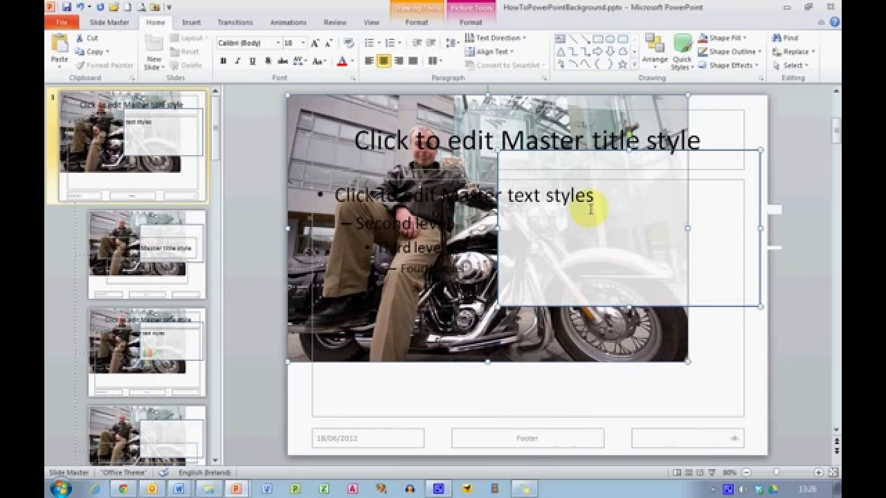 How To... Use Your Own Photos as a Slide Background in PowerPoint ...