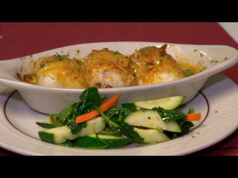 Seafood Stuffed Baked Dover Sole