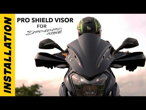 Installation Of Pro Shield Visor On Bajaj Dominar 400 | DIY | Bandidos PITSTOP