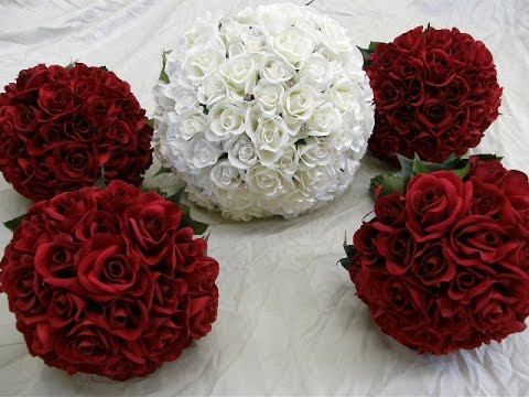 Red And White Roses With Bling Wedding Flower Package Youtube