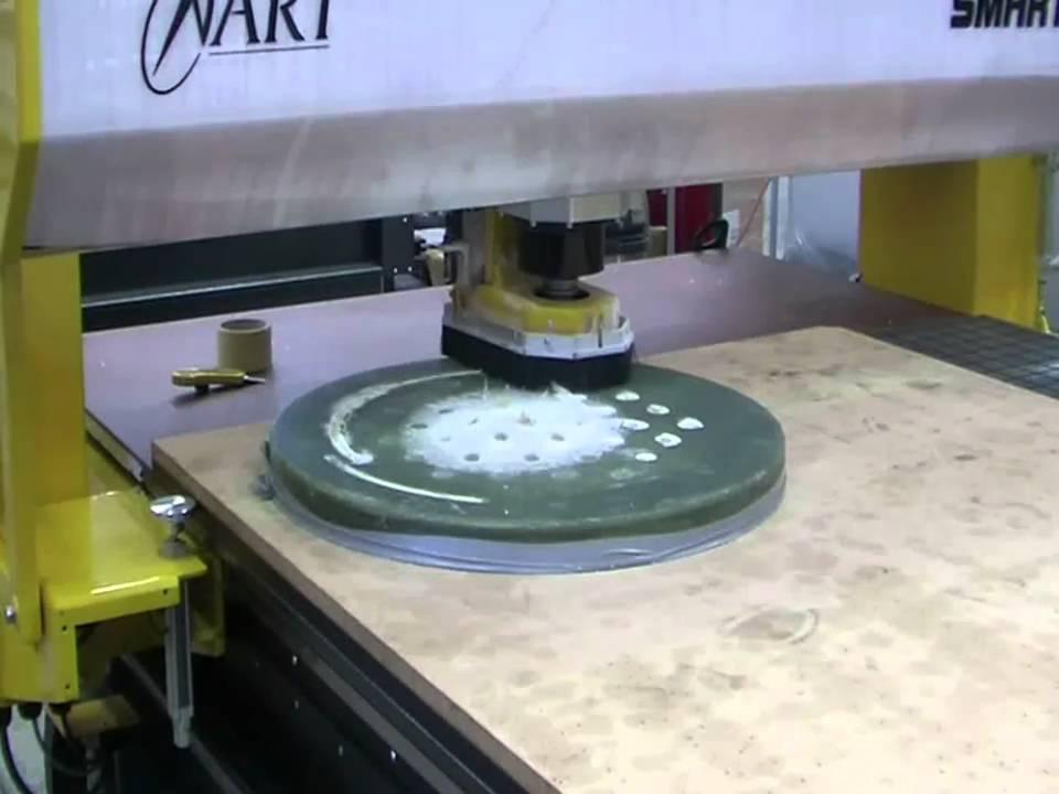 ART XR4800 CNC Router Cutting Fiberglass