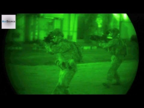 US Military Paratroopers Night Raid - Military Operations Urban Terrain Exercise