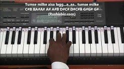 Tumse Milke Aisa Laga (Piano Tutorials) - Parinda | 1200 Songs BOOK/PDF @399/- only - 7013658813