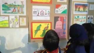 KENDRIYA VIDYALAYA, GAJAPATI. ART EXHIBITION in connection with the 63rd REPUBLIC DAY CELEBRATIONS