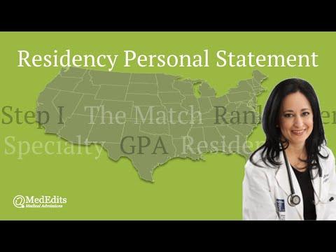 Residency Personal Statement | MedEdits