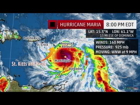 Cat 5 Hurricane Maria has a projected path very close to St. Kitts and Nevis !!!!