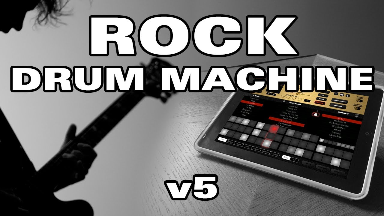 rock drum machine 5 for ipad youtube. Black Bedroom Furniture Sets. Home Design Ideas
