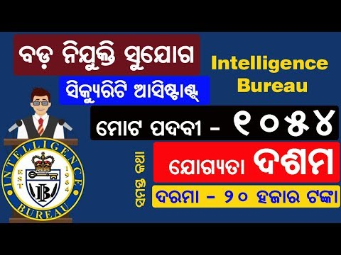 BIG Job Opportunity | Security Assistant in Intelligence Bureau | MATRIC Pass
