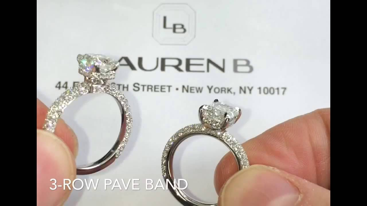 pave silver eternity half double jewelry bands band engagement sterling row cz byj ring bling