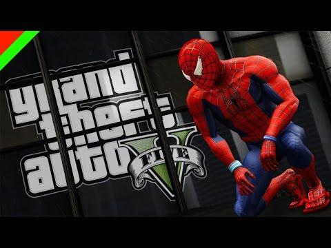 Grand Theft Auto V - Spiderman ไอ้มนุษย์แมงมุม (GTA V Mod,ตลก,ฮา)