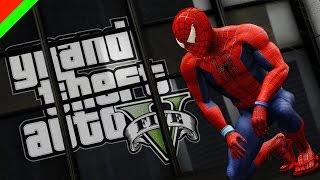 grand theft auto v spiderman ไอ มน ษย แมงม ม gta v mod ตลก ฮา