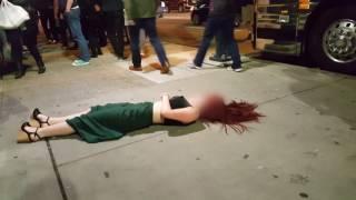 【千萬別喝醉酒不然結局就像這位少女一樣】下一秒竟然pokai了!