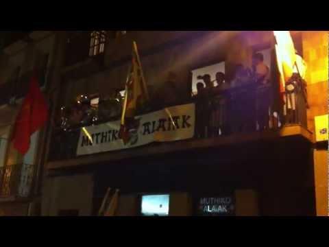San Fermin 2012 - Jainekin Txaranga - Muthiko Alaiak