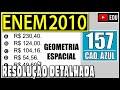 👉 ENEM 2010 157 🎯 GEOMETRIA ESPACIAL - Para construir uma manilha de esgoto, um cilindro com 2 m de