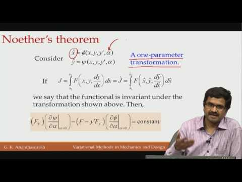 Lec37 Noether's theorem