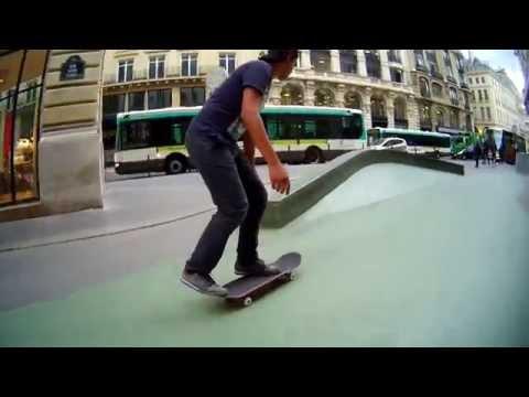 one day in Paris Bourse skateboarding Heitor Dillais