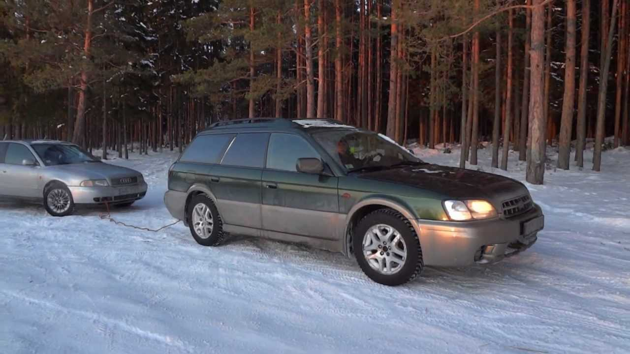 Subaru Outback Vs Forester >> 1.Subaru Outback 2001 2.5 AT winter off road - YouTube