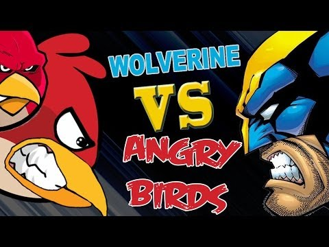 Wolverine vs Angry Birds
