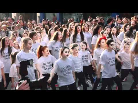 Flash Mob against youth unemployment and mass emigration