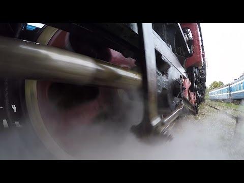 GoPro - Ходовая часть паровоза Л 2 / Steam locomotive L wheelcam 2