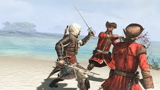 Assassin's Creed 4 Edward Kenway Master Assassin Combat, Cinematic Gameplay