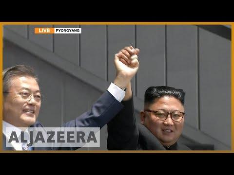 🇰🇵 Moon Jae-in and Kim Jong-un address 150,000 crowd   Al Jazeera English