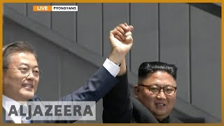 🇰🇵 Moon Jae-in and Kim Jong-un address 150,000 crowd | Al Jazeera