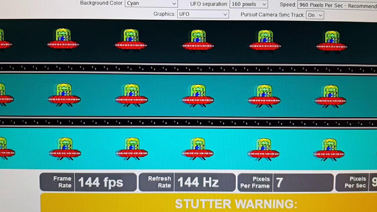 Dell S2719DGF 1440p 144hz Pixel Response Time Normal UFO Test Filmed With  960 FPS