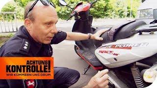 Frisierte Roller wird von der Polizei aus dem Verkehr gezogen! | Achtung Kontrolle | kabel eins