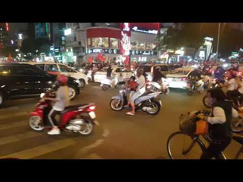 Vietnam HoChiMinh central traffic, U23 Vietnam's win 4 - 3 over Qatar