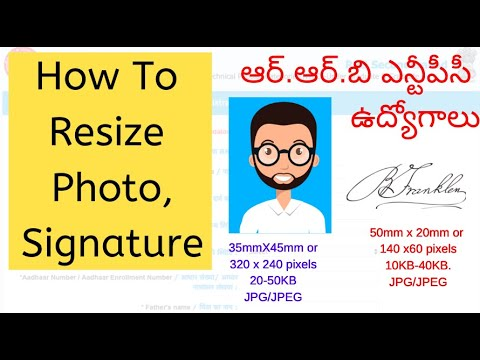 How To Resize Photo,Signature, and other document For RRB NTPC/ railway  Online Application || MOBILE