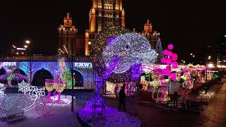 4К drone - Новогодняя Москва 2019
