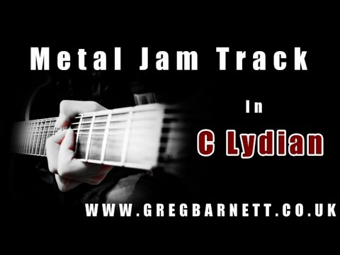Shred Guitar Backing Track #1 | Lydian Mode Metal | Greg Barnett