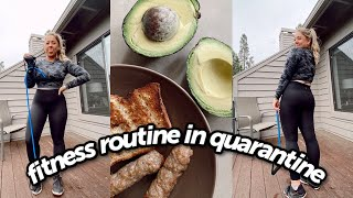 Fitness Update! My Quarantine workout routine + What I eat in a day