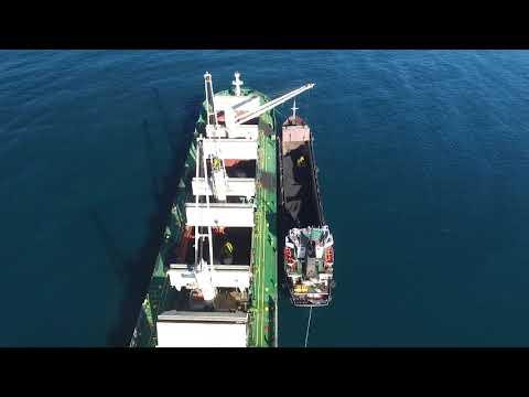 Погрузка угля на рейде порта Невельск
