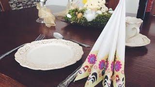 Wiosenny stół | SKŁADANIE SERWETEK