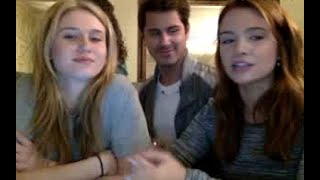 Rita Volk, Katie Stevens and Michael J. Willett Twitcam