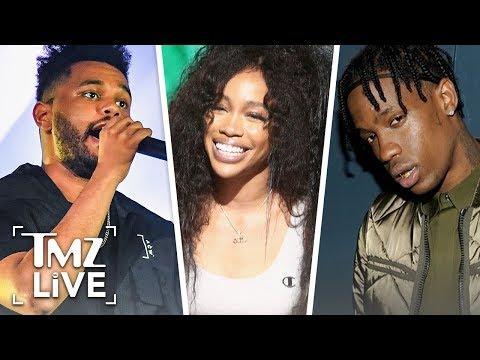 The Weeknd, Travis Scott, & SZA Shoot 'GOT' Music Video   TMZ Live