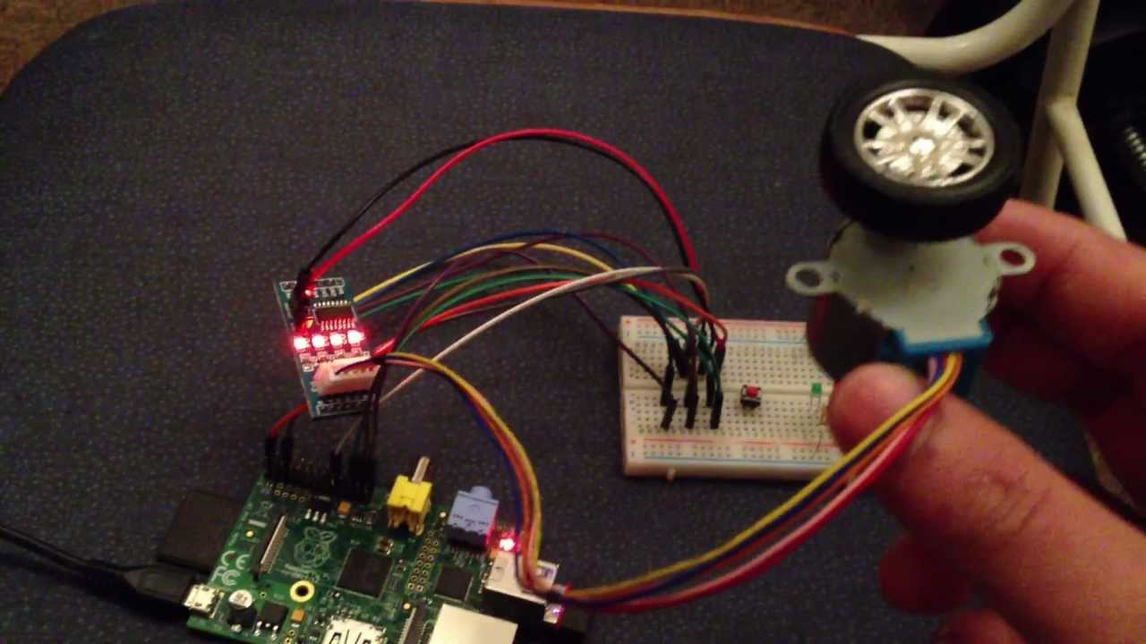 Raspberry Pi With Stepper Motor Youtube