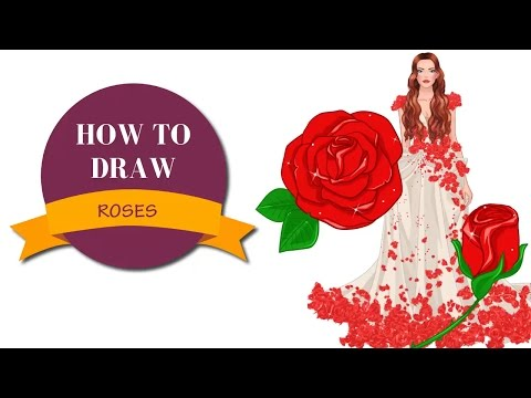 How to draw roses   I Draw Fashion