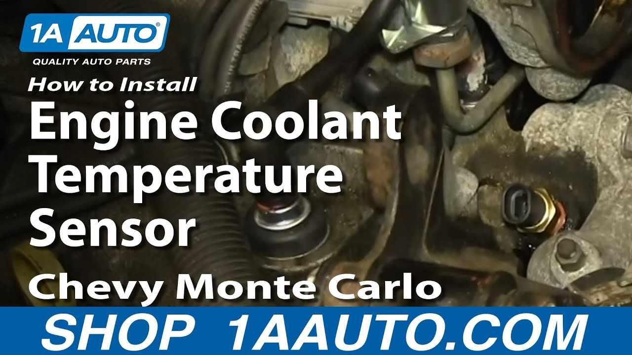 medium resolution of how to install replace engine coolant temperature sensor 3 4l 2000 08 chevy monte carlo
