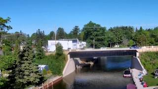 The Indian River in Cheboygan County Michigan