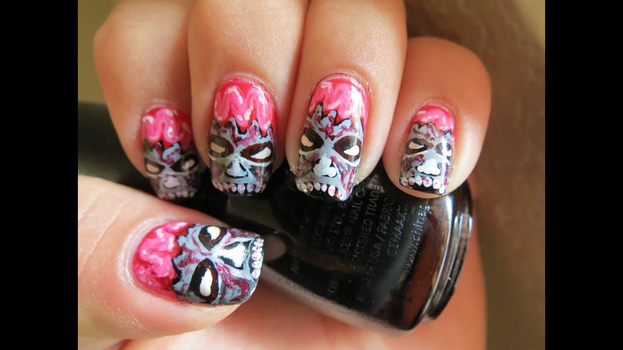 zombie nail art halloween series