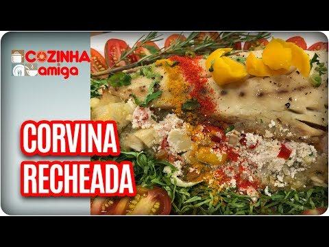 Corvina Recheada Com Creme De Milho Gratinado - Patricia Gonçalves   Cozinha Amiga (28/03/18)