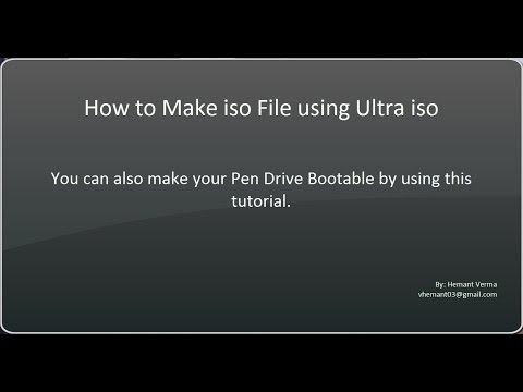 How to make iso files using Ultra iso Software